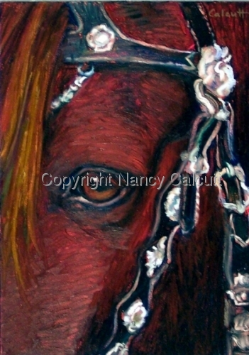 Horse with Ornate Bridle (large view)