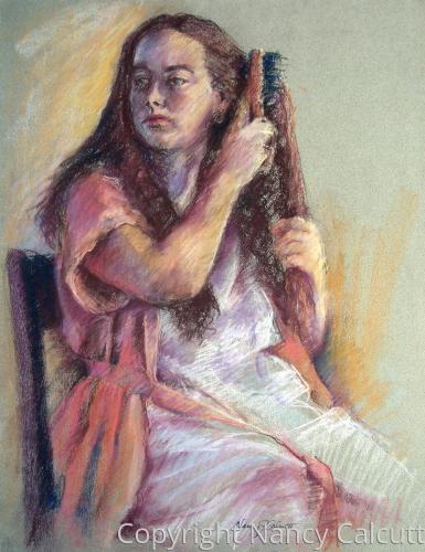 Woman Brushing Hair