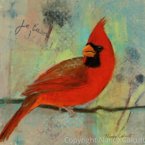 Male Cardinal (Je T'aime)