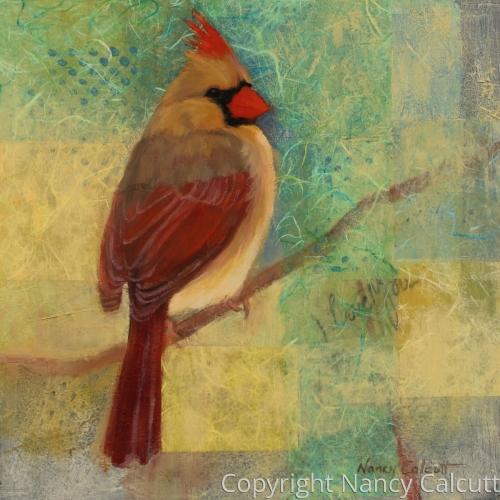 Female Cardinal (I Love You)