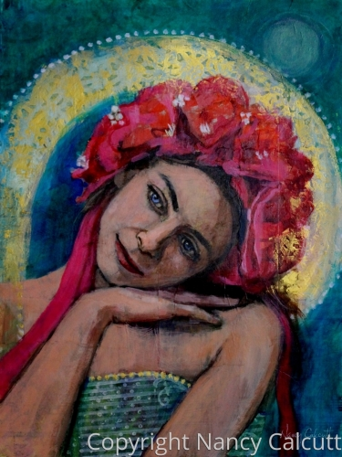 Madonna of the Roses by Nancy Calcutt