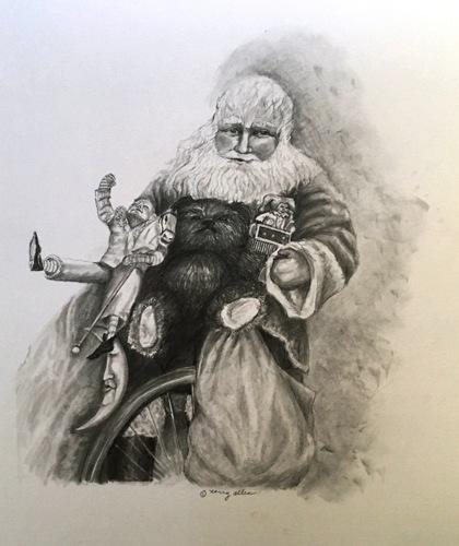 Santa by Nancy Allen