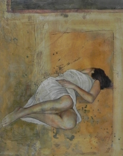 Amber Dream, mixed media, encaustic