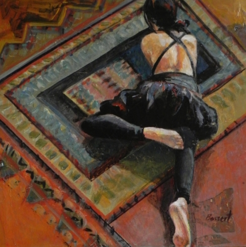 Floor Break, acrylic painting, figurative