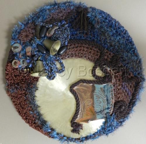 Tribal Textures, wall art, fiber art