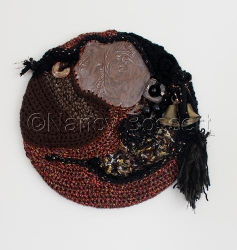 Tribal Bells, fiber art wall hanging, craft