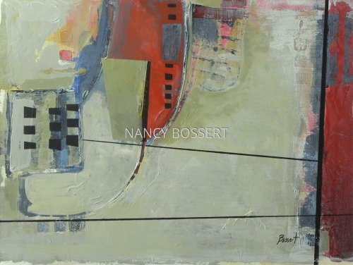 Generational Frequency, abstract, painting, acrylic by Nancy Bossert