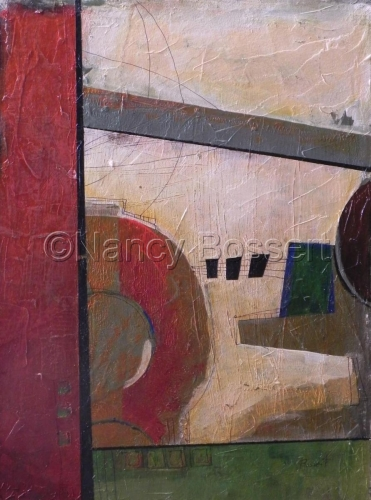 Strings, abstract, acrylic painting