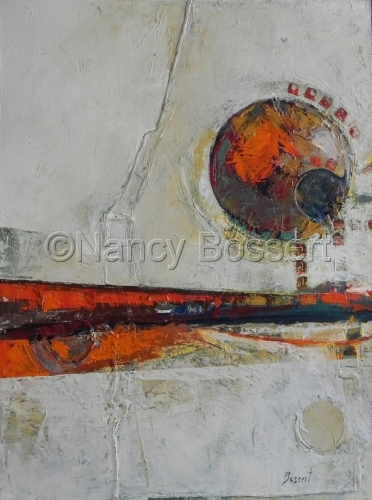 Casting, abstract, oil painting