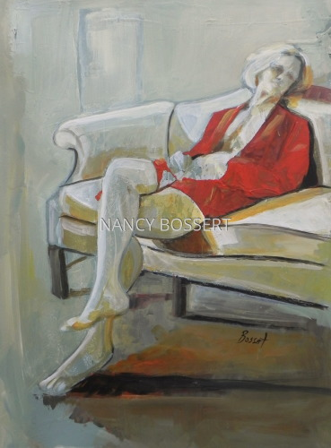 Contemplating Choices, acrylic painting, figurative