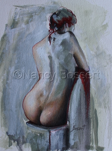 Red Line Nude, painting