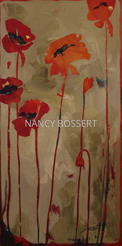 Poppies and Blue Butterfly