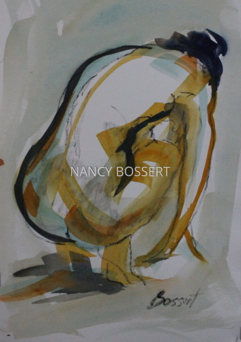 Black Line Nude Watercolor