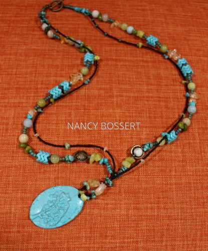 Turquoise Tree Necklace