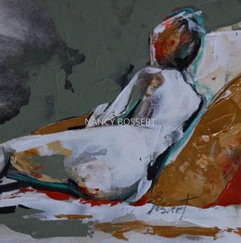 Figure with Ocher Pillow
