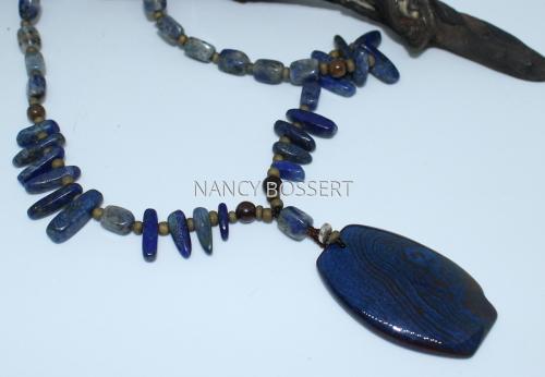 Deep Blue Onyx Necklace