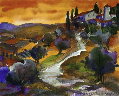 Tuscan Landscape Late Afternoon