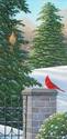 Jake Vandenbrink,ontario,canada,landscape painting,acrylic landscape,acrylic painting,realism,realistic painting,red,cardinal,wildlife art,wildlife painting,animals,snow,winter scenes,winter painting,forest,trees,path,trail,winter,snow scenes,winter landscape,snowscape,sonbirds,songbird painting,cardinal painting - Animals Painting