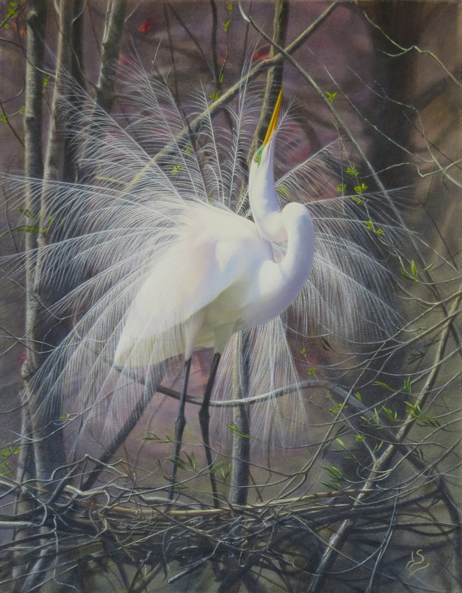 Dancing Egret (large view)