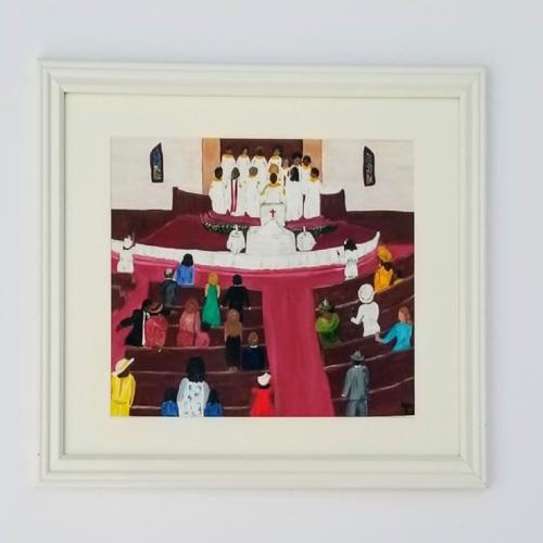 Church Worship by Nancyellenart