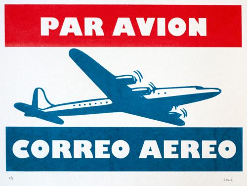 46 : Par Avion / Correo Aereo