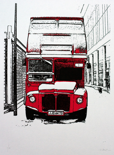 389 : London - Routemaster in the Snow