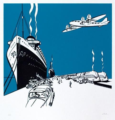 242 : Art Deco - Pier Scene