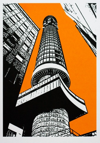 264 : London - GPO Tower (Orange Sky)