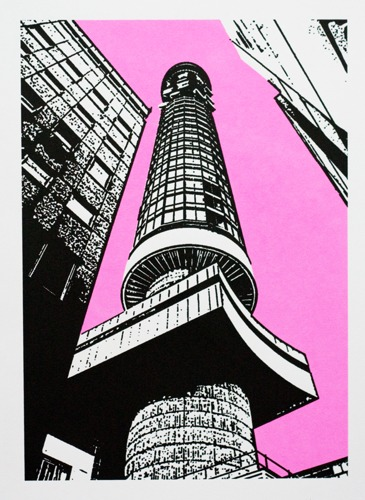 265 : London - GPO Tower (Pink Sky)