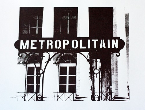 683 : Paris - Metropolitain Sign, (La Bourse)