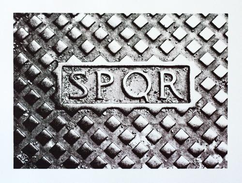 680 : Rome - SPQR Manhole Cover