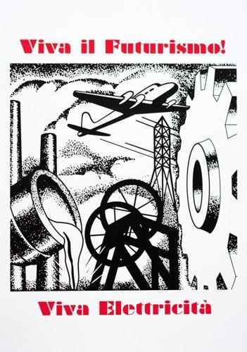 615 : Futurismo Poster - Viva Elettricita!