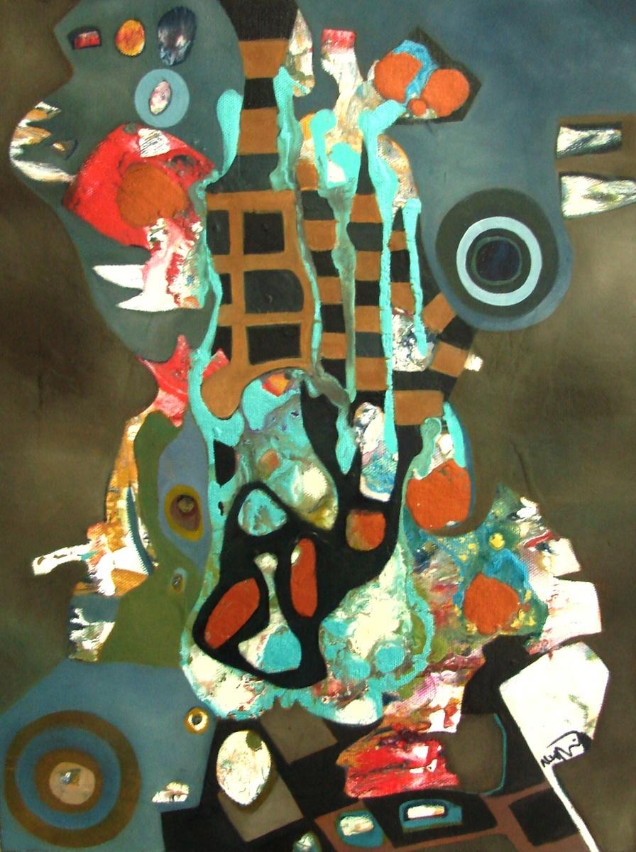 Abstract Oil Paintings Vikings By Neil Wyatt