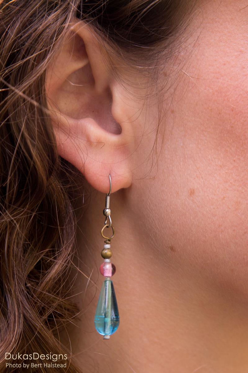 Aqua Drop Earrings (large view)