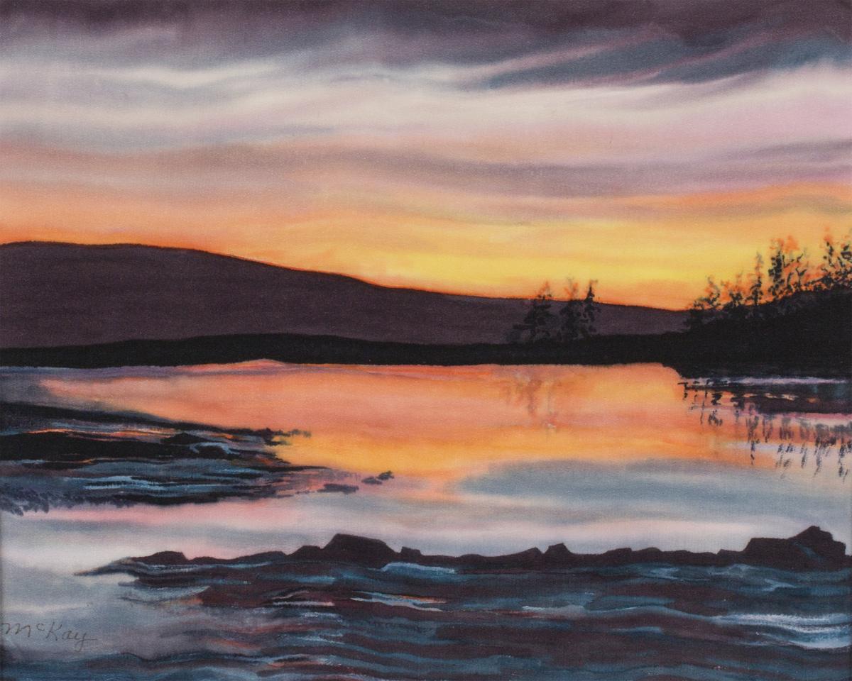 Sunset, Schoodic Peninsula Acadia National Park (large view)