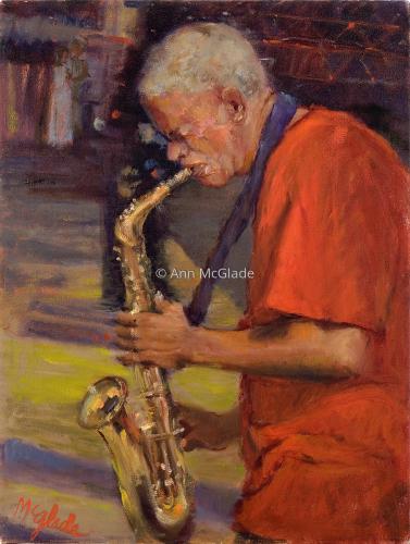 Windy City Jazz Man IV by Ann McGlade
