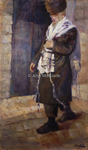 The Rabbi with shawl (large view)