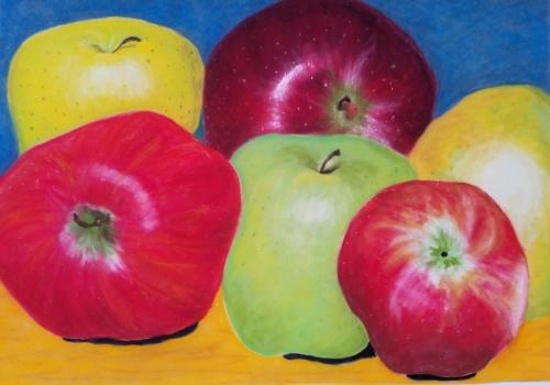 Pastel Apples by Nicole Heffner