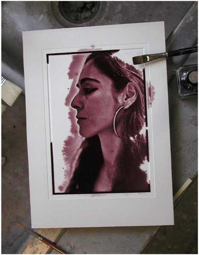 Testing a Mold with Ink (large view)