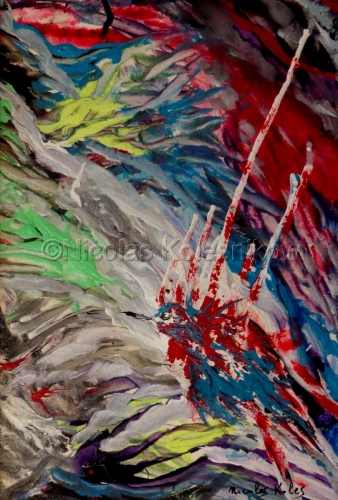 ABSTRACT BIRD WITH VIVID COLORS
