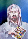 """""""Self-Portrait with Unpublished Book"""" (thumbnail)"""