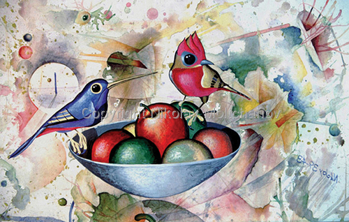 """Birds and Fruits"" by Nikolay Moltchanoph"