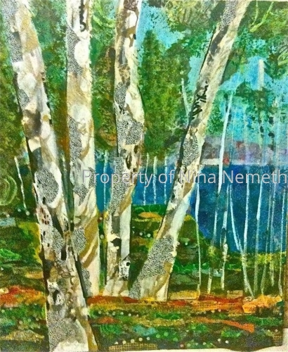 Four Birch - Landscape Series