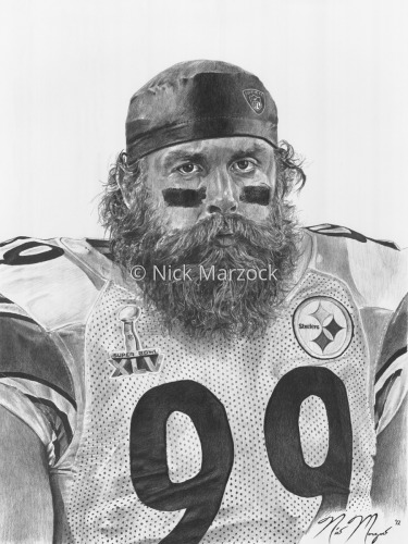 Limited Edition Print of Brett Keisel by Nick Marzock