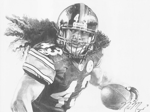 Limited Edition Print of Troy Polamalu by Nick Marzock