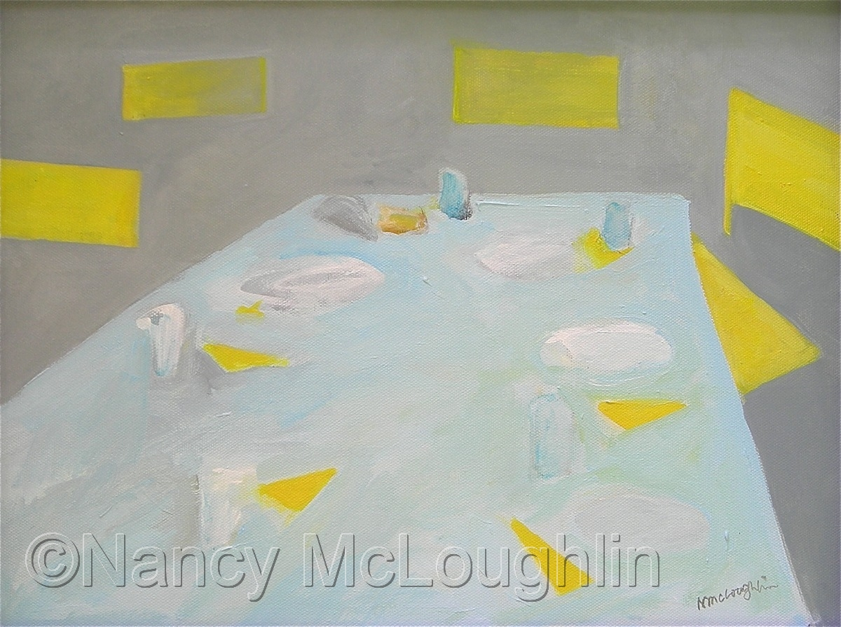 Table with Yellow Chairs (large view)