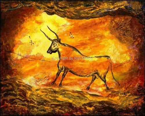 The Fourth Bull -- Homage to Lascaux