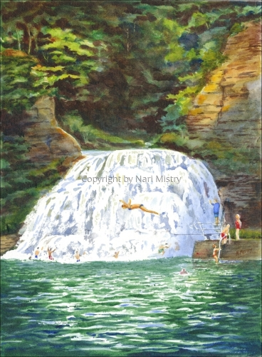 Enfield Falls, Treman Park by Nari Mistry