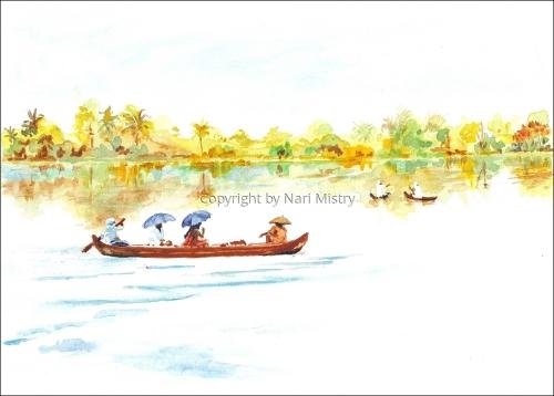 River Scene, Kerala