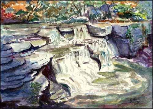 Taughannock Creek, Lower Falls